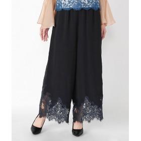 <overlace/オーバーレース> lace pants(81-96001) ブラック 【三越・伊勢丹/公式】