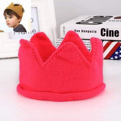 Jrk Kids Crown Shape Simple Knitting Hat Plum Red   Topi Anak Aksesoris  Fashion Import Kekinian 10fcfe1cec