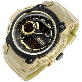 LAD WEATHER(ラドウェザー) ヴァリアントマスターII トリプルタイム搭載腕時計 lad043gd-bk