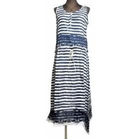 ボーダー柄エスニックワンピースアジアンエスニック衣料エスニックアジアンファッション