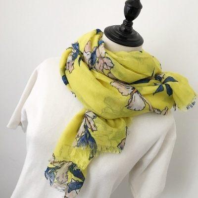新款時尚棉質柔軟絲巾圍巾 文藝空調披肩 防曬披肩64