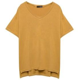 リエディ 選べるVネックTシャツ レディース マスタード M 【Re: EDIT】