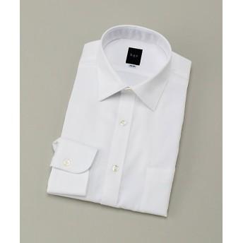 【SALE(伊勢丹)】<ビージーアール> ショートセミワイド白ドビーシャツ(3048221110) ホワイト 【三越・伊勢丹/公式】