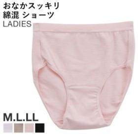 【メール便(5)】美腹 おなかスッキリ 綿混 快適 サポート ショーツ M L LL