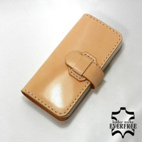 iPhone SE用 サドルレザー手帳型ケース【5/5s対応】iPSE-015000