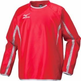 ミズノ(MIZUNO) ピステシャツ P2ME550562 レッド×グレー 【サッカー メンズ トレーニングウェア ウィンドブレーカー】
