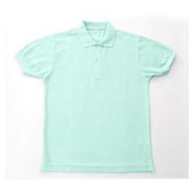 無地鹿の子ポロシャツ ミント グリーン S