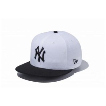ニューエラ(NEW ERA) 9FIFTY ニューヨーク・ヤンキース ホワイト×ブラック ブラックバイザー 11308463 (Men's)