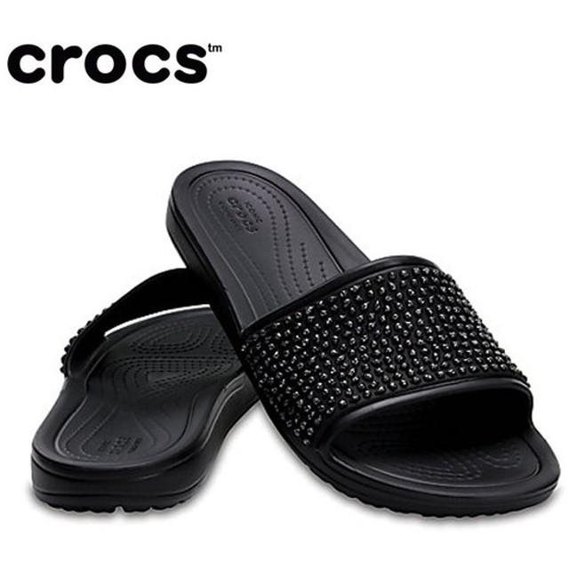 クロックス サンダル レディース Women's Crocs Sloane Embellished Slides クロックス スローン エンベリッシュド スライド ウィメン 204691 crocs