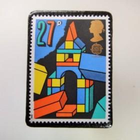 イギリス 切手ブローチ3539