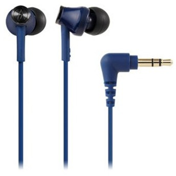オーディオテクニカ ダイナミック密閉型カナルイヤホン(ブルー) audio-technica ATH-CK350M-BL 返品種別A