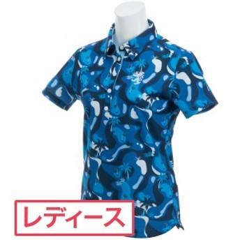 アドミラル Admiral ゴルフコース柄 半袖ポロシャツ レディス