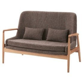 ソファ 2人掛け 天然木 北欧風 フリック 幅136cm ( 送料無料 ソファー 椅子 イス チェア フロアーソファ ソファチェア リビングチ