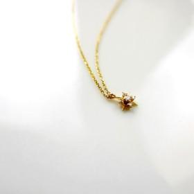 ブリリアントクリスタル シングルダイヤモンドポジティブ10Kゴールドスーパーファイン鎖骨ネックレス