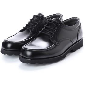ブラック BLACK 幅広 超幅広 6E G 日本製 本革ビジネスシューズ Uモカ タンクソール (ブラック)