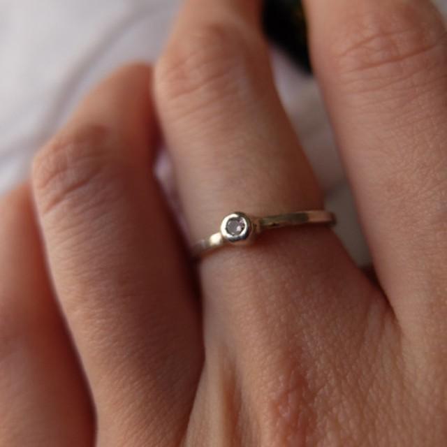 41e737b644519c 小さな石の指輪 ( CZ: ピンク ) 通販 LINEポイント最大1.0%GET   LINE ...