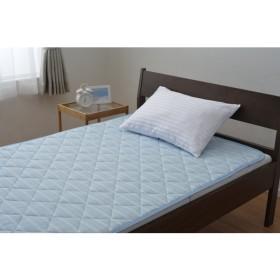 京都西川 5AB1101S 吸汗速乾敷きパッドエアバーン ブルー [敷きパッド シングル ベッドシーツ 涼感 吸汗 速乾 吸収 寝具] ベッドパッド・敷パッド