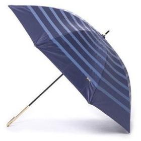 ダブリュピーシー w.p.c 日傘 晴雨兼用 遮光リボンボーダー (ネイビー)
