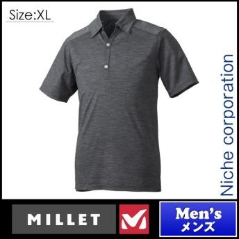 ミレー ウールボーダー スキッパー ショートスリーブ TEAL BLUE STRIPES XLサイズ MIV01584-8202-XL アウトドア用品
