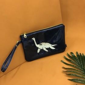 恐竜シリーズいたずらPlesiosaurクラッチバッグ化粧品バッグ