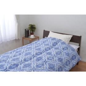 京都西川 4S12223 日本製洗えるダウン85%羽毛肌掛けふとん ブルー [シングル タオル 掛け布団 敷布団 枕 寝具 ふとん ベッド 洗える]