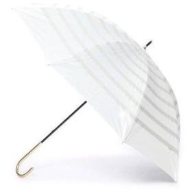 ダブリュピーシー w.p.c 日傘 晴雨兼用 遮光リボンボーダー (オフホワイト)