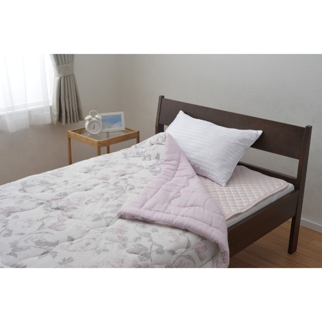 京都西川 4G1812SG タオル肌ふとん ピンク [シングル タオル 掛け布団 敷布団 枕 寝具 ふとん ベッド 洗える]