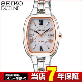 bf08fe227d DOLCE&EXCELINE ドルチェ&エクセリーヌ SEIKO セイコー 電波ソーラー SWCW136 レディース 腕時計 国内正規品 ピンク