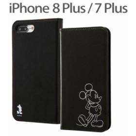 ☆ ディズニー iPhone 8 Plus /7 Plus (5.5インチ) 専用 手帳型ケース ホットスタンプ ミッキー RT-DP15I/MK