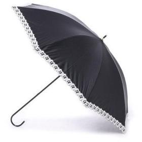 ダブリュピーシー w.p.c 日傘 晴雨兼用 遮光フラワースカラップ (ブラック)