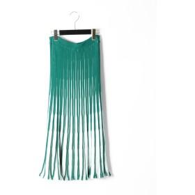 【オンワード】 GRACE CONTINENTAL(グレースコンチネンタル) バイカラーニットスカート グリーン 36 レディース