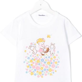 Familiar プリント Tシャツ - ホワイト