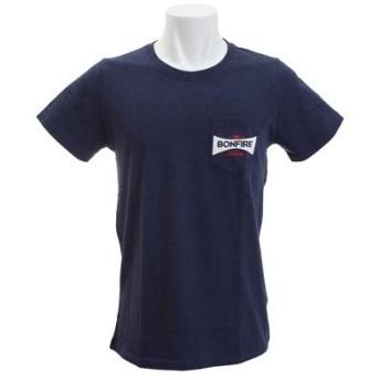 ボンファイア(Bonfire) POCKET EMBREM 半袖Tシャツ 10BNF8SCD2012 NVY (Men's)