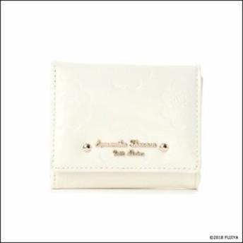サマンサタバサ プチチョイス ペココレクション エナメル型押し ミニ財布 オフホワイト