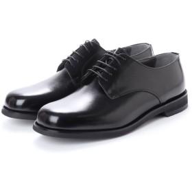 ブラック BLACK 幅広 超幅広 6E G 日本製 本革ビジネスシューズ プレーン (ブラック)