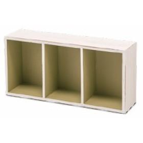 パーテーションボックス S グリーン 杉 W40 D19 H10cm | 木箱 ウッドボックス カフェ ボックス インテリア インテリア雑貨 雑貨 整理 壁