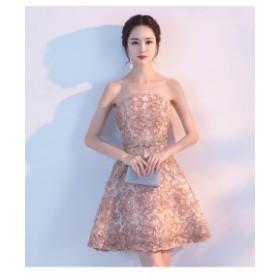 セクシー ビスチェ パーティドレス ワンピース プリンセスライン イブニングドレス ミニドレス 誕生日 お呼ばれ 発表会