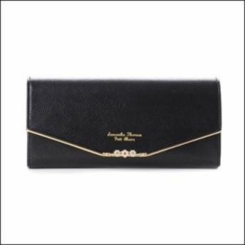 サマンサタバサ プチチョイス お花バー財布 かぶせ財布 ブラック