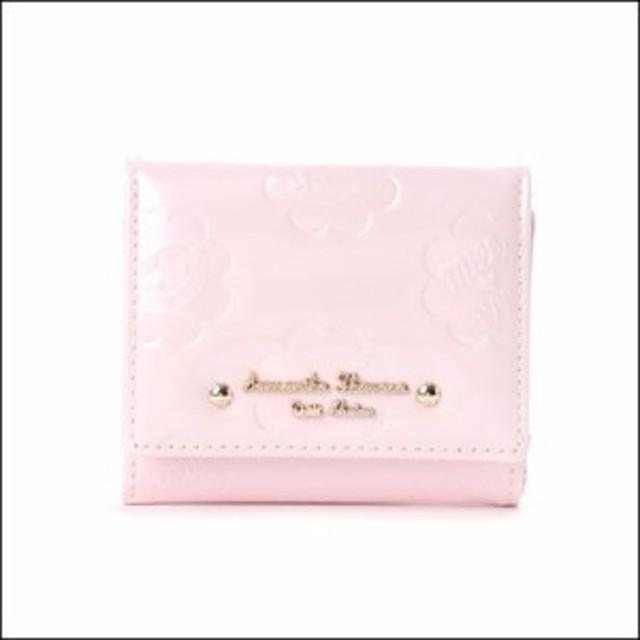サマンサタバサ プチチョイス ペココレクション エナメル型押し ミニ財布 ピンク