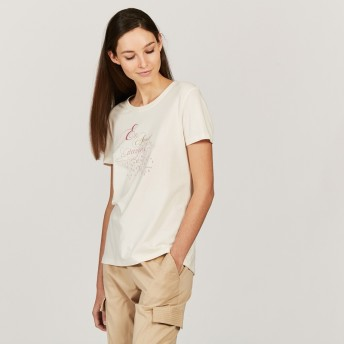 AIGLE レディース レディース UVカットウィンドティTシャツ ZTFH522 BLANC (002) Tシャツ