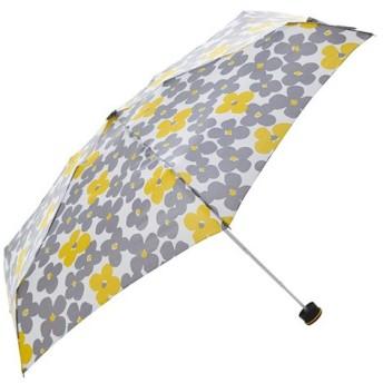 東急ハンズ HUS. スマートデュオ 晴雨兼用折りたたみ傘 54539 フラワーイエロー