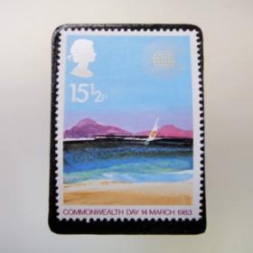 イギリス 切手ブローチ3558