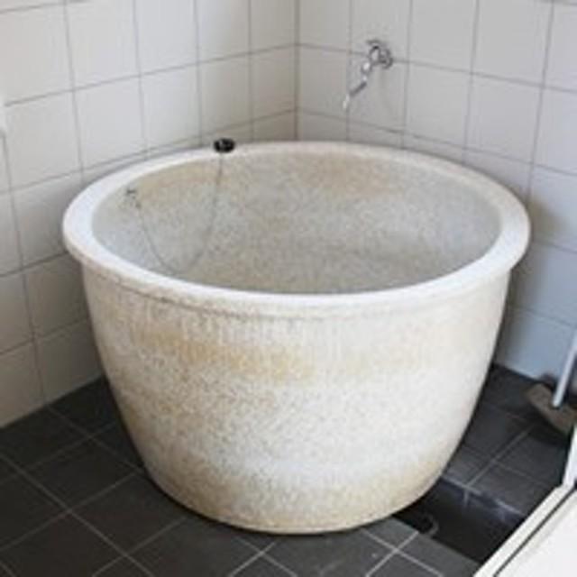 陶器 丸型 直径900 × 高さ550ミリ 浴槽ロクロ成型タイプ 浴槽 風呂 つぼ湯 つぼ風呂 信楽焼 おしゃれ 和風【手作り】