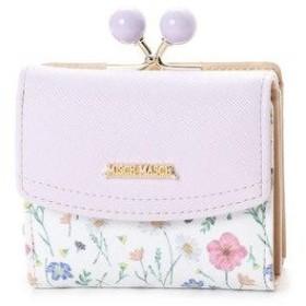 ミッシュマッシュ MISCH MASCH オペラ 花柄ガマ口3つ折れ財布 (パープル)