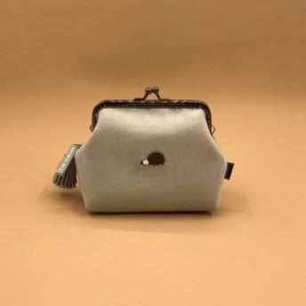 リトルヘッジホッグゴールドウォレット財布縫製ビーズ財布