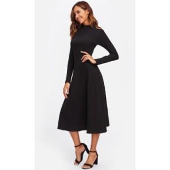 オープンショルダー ロング ワンピース ドレス ブラック 結婚式 お呼ばれドレス 二次会 韓国 20代 30代 40代 大きいサイズ