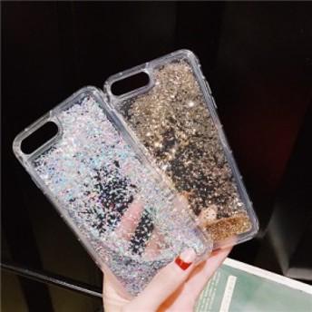 iphone6s Plus/iPhone6 Plus/iPhone7 Plus/iPhone7/iPhone8 Plus/iPhone8/iPhoneXケース透明液体流砂キラキラケース【hn153】
