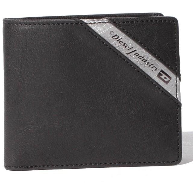 【43%OFF】 ディーゼル DIESEL X03611 P1221 H6168 二つ折り財布 メンズ ブラック F 【DIESEL】 【タイムセール開催中】
