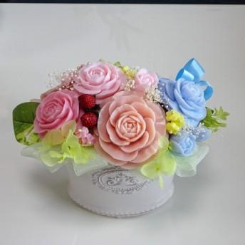 「再販」「Creema限定」石鹸彫刻 香る花のアレンジメント