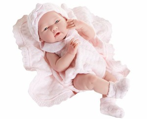 Pink Anatomically Correct New JC Toys Blonde ANI Baby Doll